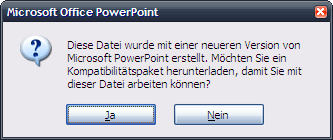 Office Dateiformat Kompatibilitätsprobleme