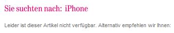 kein iPhone gefunden