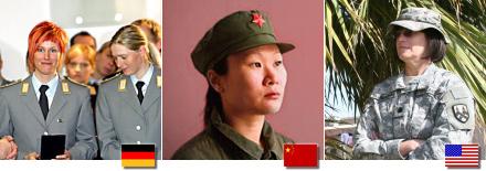 Frauen in anderen Armeen
